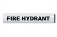 Fire Hydrant Brushed Aluminium sign