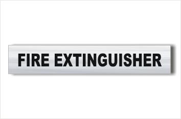 Fire Extinguisher Brushed Aluminium sign