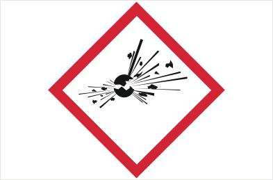 GHS01 Explosive Label