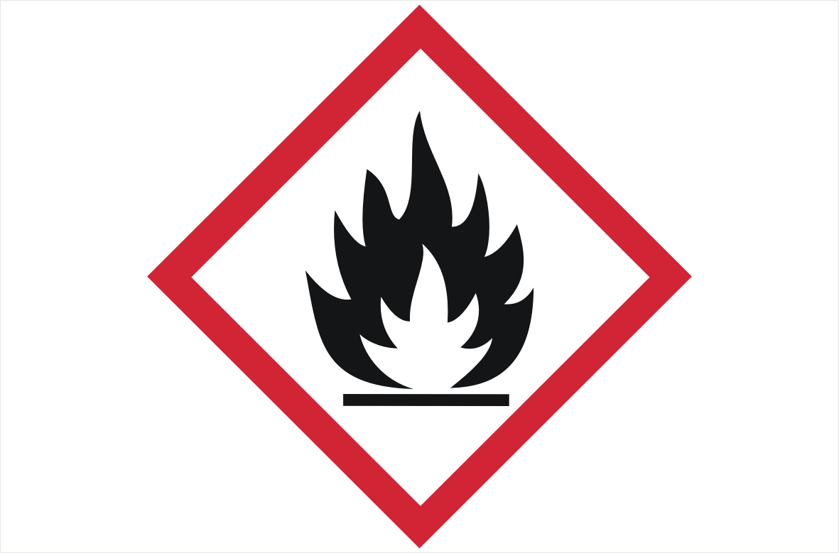 GHS02 Flammable Gases Label