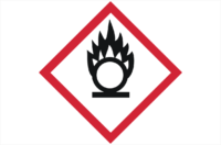 GHS03 Oxidising Gases Label