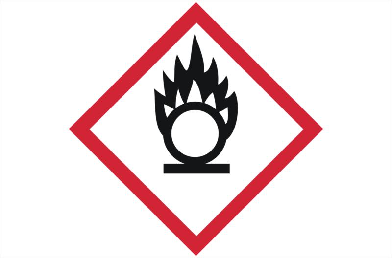 GHS03 Oxidising Gases Label