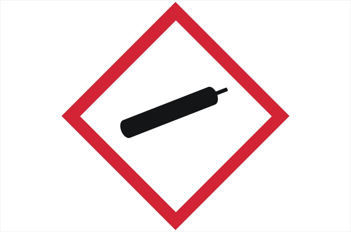 GHS04 Compressed Gases Label