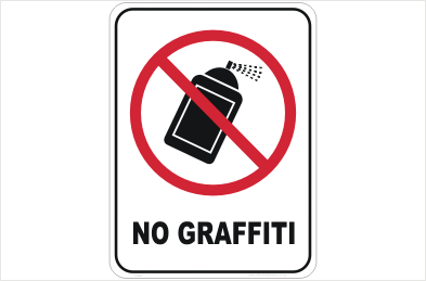 Anti-Graffiti sign
