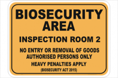 Biosecurity Inspection Room