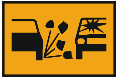 Loose stones sign