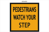 Pedestrians watch your step