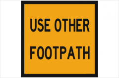 Use other Footpath sign