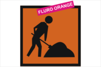 Multi Message Workmen Ahead Fluro Sign
