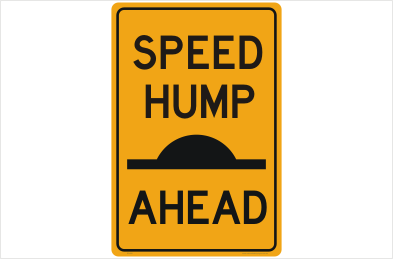 Speed Hump Ahead sign