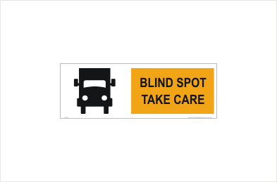 Blind spot sticker