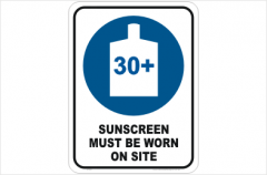Sunscreen sign