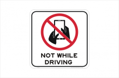 Texting and Driving sign