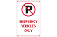 Emergency Vehicles sign