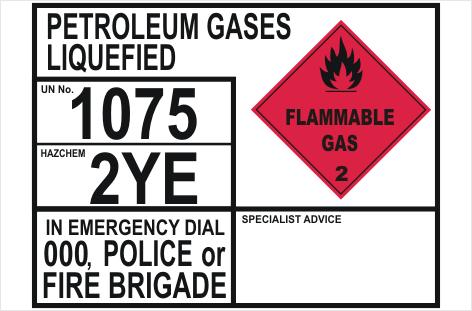 Petroleum Gases Liquefied transport panel
