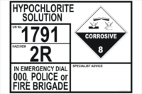 Emergency Information transport Panel - Hypochlorite