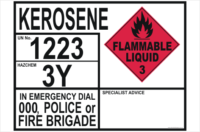 Emergency Information Panel - Kerosene
