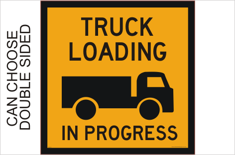 Truck Loading sign
