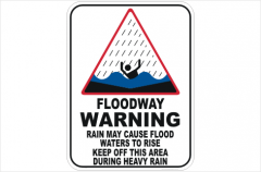 Floodway Warning sign