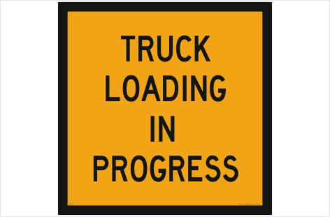 Truck Loading signs