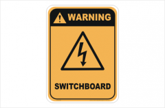 Switchboard Warning sign