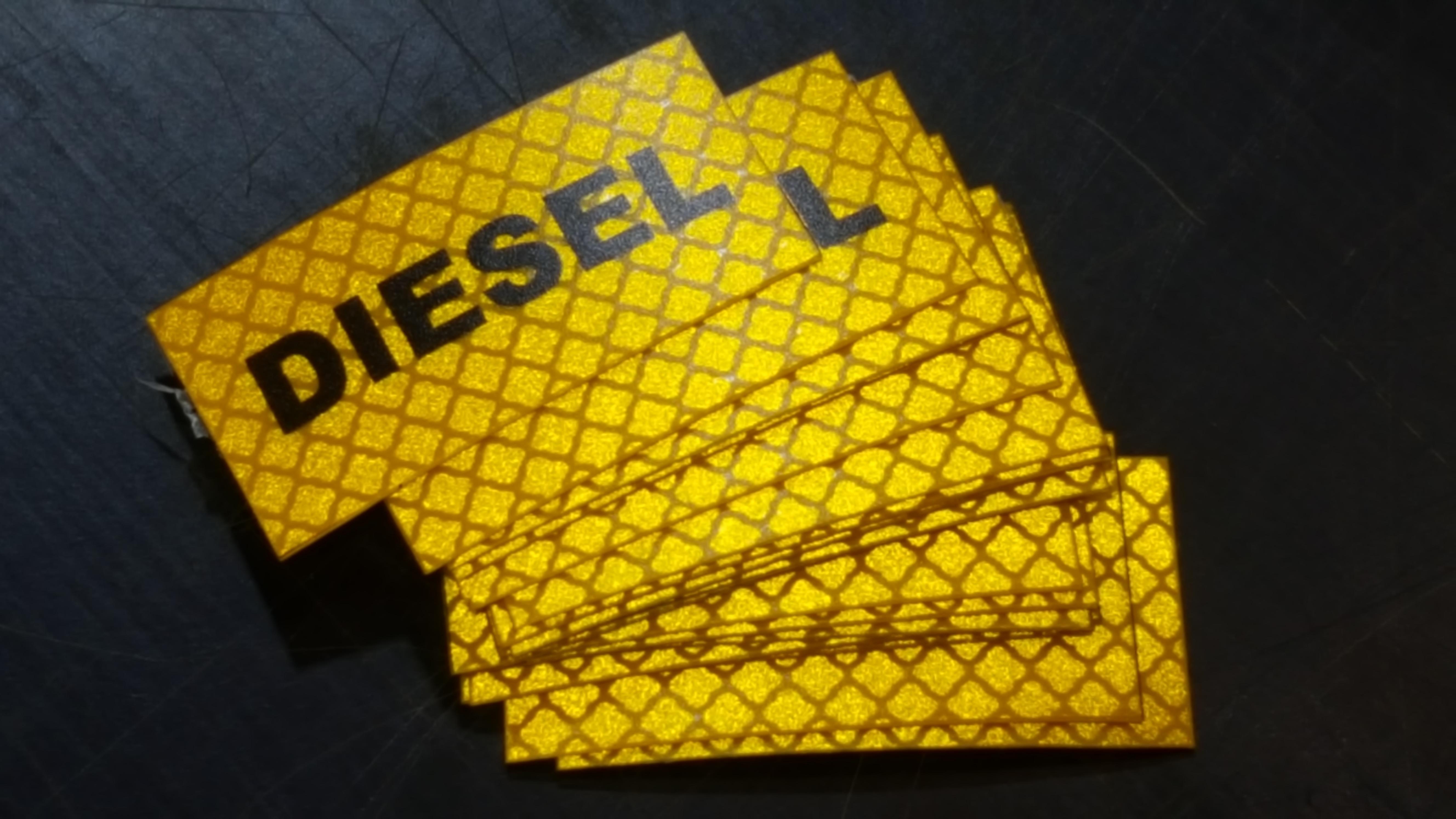 Diesel fuel Reflective sticker