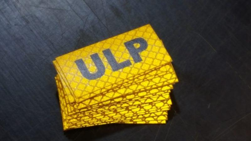 Unleaded Petrol Reflective sticker