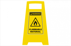 Flammable Material Sign