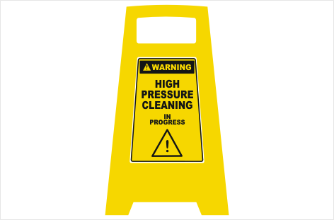 High Pressure Cleaning Floor sign