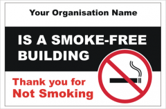 Smoke free building sign