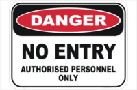 Danger No Entry Sign
