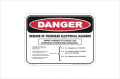 Overhead Electrical Hazard Sign