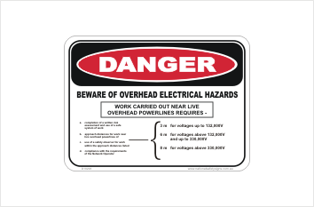 Overhead Electrical Hazard Sign