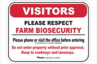 Farm Biosecurity Custom Sign