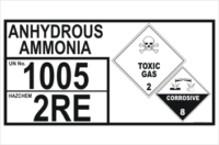 Dangerous Goods Storage Panel Anhydrous Ammonia