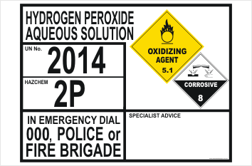 Emergency Information Panel Hydrogen Peroxide Aqueous Solution