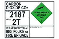 Emergency Information Panel Carbon Dioxide