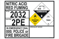 Nitric Acid Red Fuming information Panel
