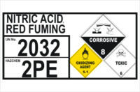 Dangerous Goods Storage Panel Nitric Acid Red Fuming