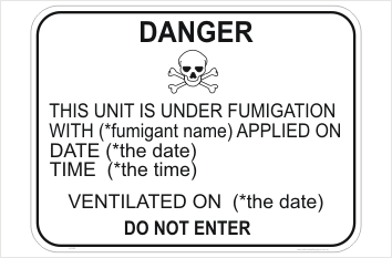 Fumigation Warning Mark