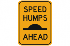 Speed Humps Ahead sign