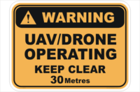 Drone Operating sign