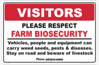 Farm Biosecurity Entrance Sign