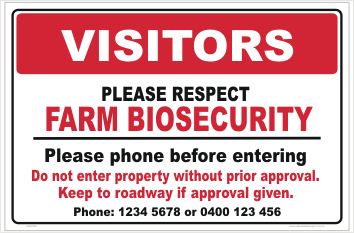 Farm Biosecurity Gate Signs
