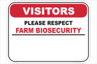 Farm Biosecurity Design your Sign
