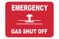 Gas Shut off sign