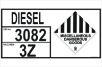 Emergency Information Panel Diesel Storage