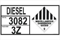 Emergency Information Panel Diesel Storage
