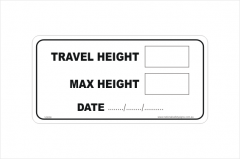 Truck Height Sticker