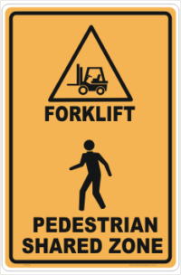 Forklift Pedestrian Shared Zone
